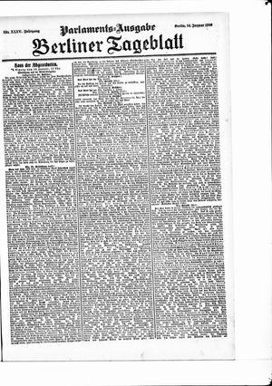 Berliner Tageblatt und Handels-Zeitung vom 14.01.1906