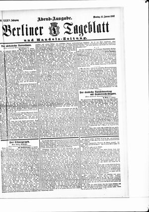 Berliner Tageblatt und Handels-Zeitung vom 15.01.1906