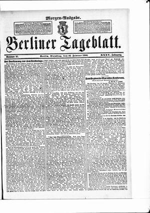 Berliner Tageblatt und Handels-Zeitung vom 16.01.1906