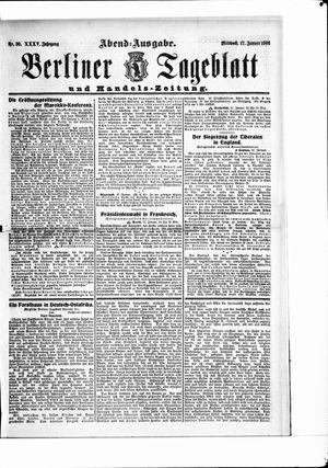 Berliner Tageblatt und Handels-Zeitung vom 17.01.1906