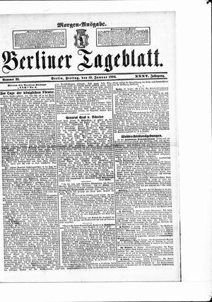 Berliner Tageblatt und Handels-Zeitung vom 19.01.1906