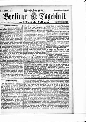 Berliner Tageblatt und Handels-Zeitung vom 20.01.1906