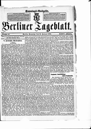 Berliner Tageblatt und Handels-Zeitung vom 21.01.1906