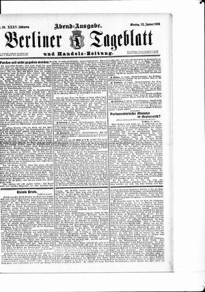 Berliner Tageblatt und Handels-Zeitung vom 22.01.1906