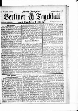 Berliner Tageblatt und Handels-Zeitung vom 24.01.1906
