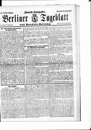 Berliner Tageblatt und Handels-Zeitung vom 25.01.1906