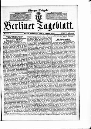 Berliner Tageblatt und Handels-Zeitung vom 27.01.1906