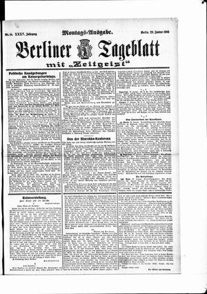 Berliner Tageblatt und Handels-Zeitung vom 29.01.1906