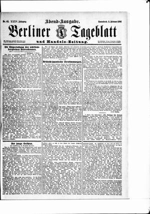 Berliner Tageblatt und Handels-Zeitung vom 03.02.1906