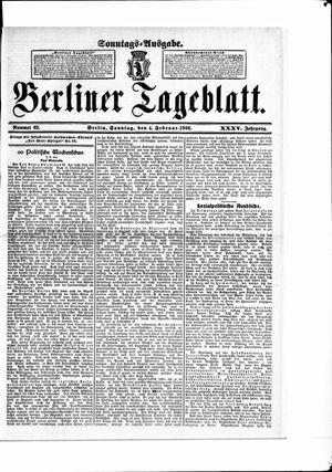Berliner Tageblatt und Handels-Zeitung on Feb 4, 1906
