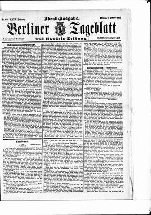 Berliner Tageblatt und Handels-Zeitung vom 05.02.1906