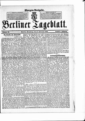 Berliner Tageblatt und Handels-Zeitung vom 06.02.1906