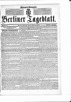 Berliner Tageblatt und Handels-Zeitung vom 09.02.1906