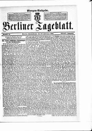 Berliner Tageblatt und Handels-Zeitung vom 10.02.1906