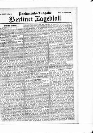 Berliner Tageblatt und Handels-Zeitung vom 11.02.1906