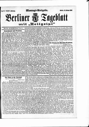 Berliner Tageblatt und Handels-Zeitung vom 12.02.1906