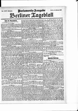Berliner Tageblatt und Handels-Zeitung on Feb 14, 1906