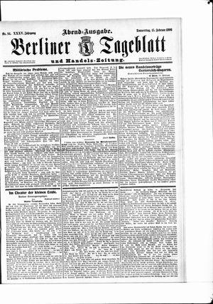 Berliner Tageblatt und Handels-Zeitung vom 15.02.1906
