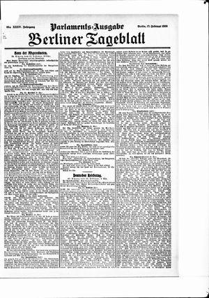 Berliner Tageblatt und Handels-Zeitung vom 17.02.1906