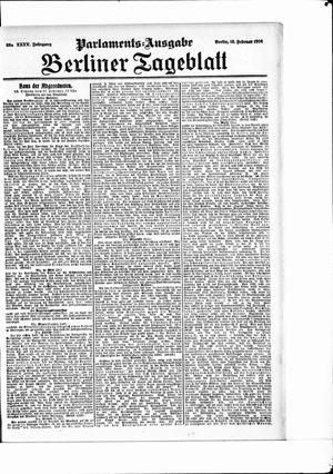 Berliner Tageblatt und Handels-Zeitung vom 18.02.1906