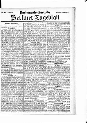 Berliner Tageblatt und Handels-Zeitung vom 21.02.1906