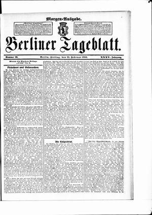Berliner Tageblatt und Handels-Zeitung vom 23.02.1906