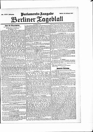 Berliner Tageblatt und Handels-Zeitung vom 24.02.1906