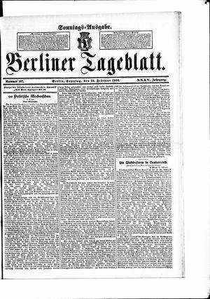 Berliner Tageblatt und Handels-Zeitung vom 25.02.1906