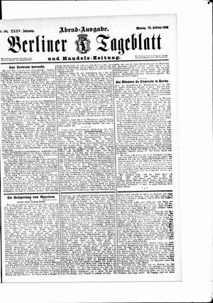 Berliner Tageblatt und Handels-Zeitung vom 26.02.1906