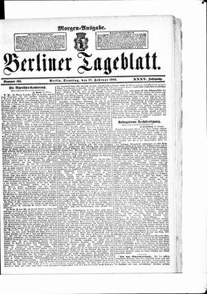 Berliner Tageblatt und Handels-Zeitung vom 27.02.1906
