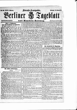 Berliner Tageblatt und Handels-Zeitung vom 28.02.1906