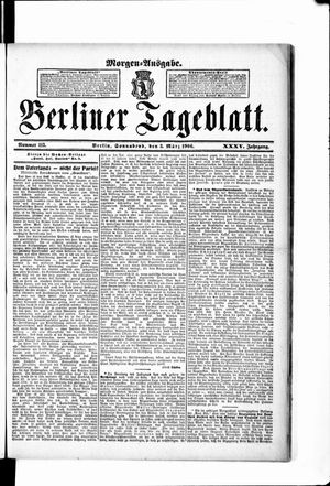 Berliner Tageblatt und Handels-Zeitung vom 03.03.1906