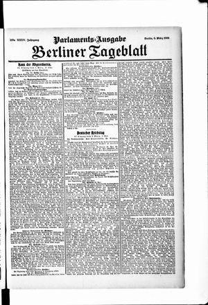 Berliner Tageblatt und Handels-Zeitung vom 06.03.1906