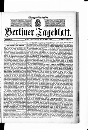 Berliner Tageblatt und Handels-Zeitung vom 08.03.1906
