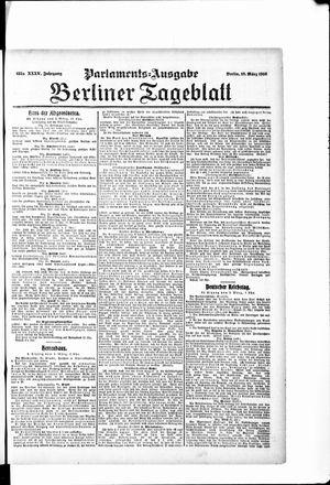 Berliner Tageblatt und Handels-Zeitung vom 10.03.1906