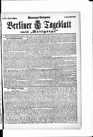 Berliner Tageblatt und Handels-Zeitung vom 12.03.1906