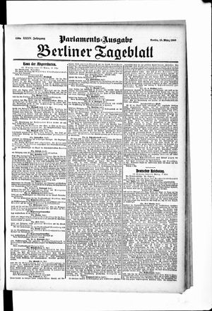 Berliner Tageblatt und Handels-Zeitung vom 13.03.1906