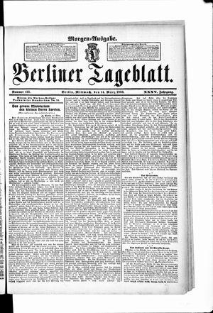 Berliner Tageblatt und Handels-Zeitung vom 14.03.1906