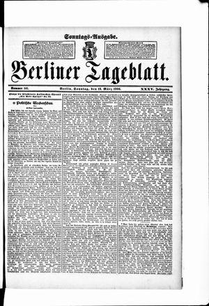 Berliner Tageblatt und Handels-Zeitung vom 18.03.1906