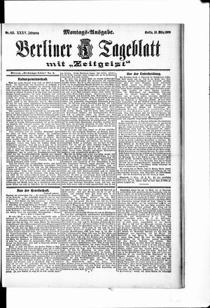 Berliner Tageblatt und Handels-Zeitung vom 19.03.1906