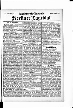 Berliner Tageblatt und Handels-Zeitung vom 20.03.1906