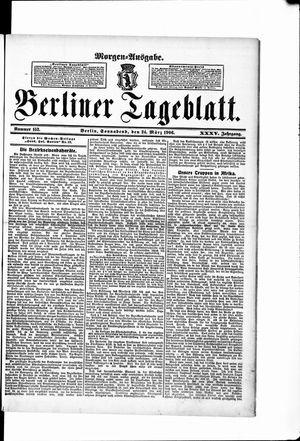 Berliner Tageblatt und Handels-Zeitung vom 24.03.1906