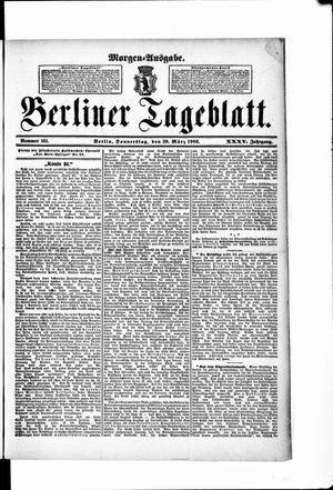 Berliner Tageblatt und Handels-Zeitung vom 29.03.1906