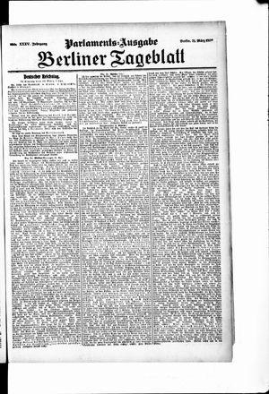 Berliner Tageblatt und Handels-Zeitung vom 31.03.1906