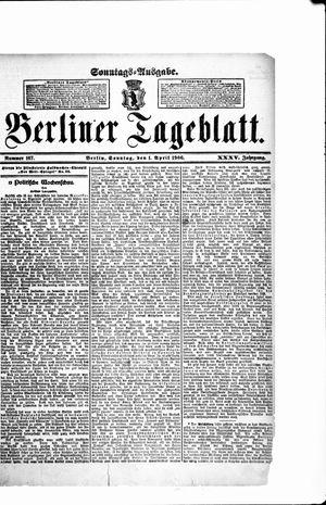 Berliner Tageblatt und Handels-Zeitung vom 01.04.1906