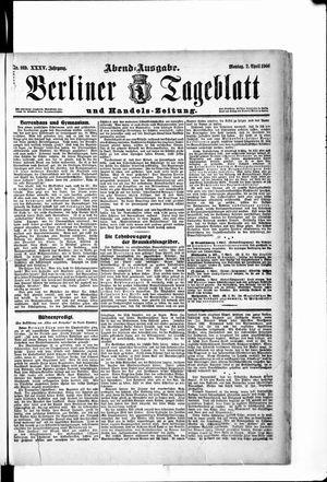 Berliner Tageblatt und Handels-Zeitung vom 02.04.1906
