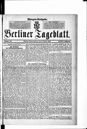 Berliner Tageblatt und Handels-Zeitung vom 05.04.1906