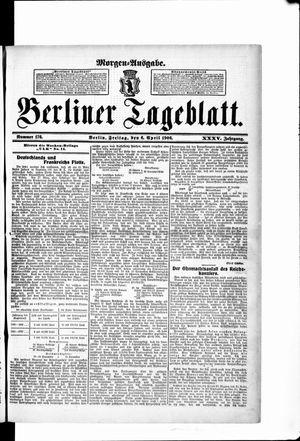 Berliner Tageblatt und Handels-Zeitung vom 06.04.1906
