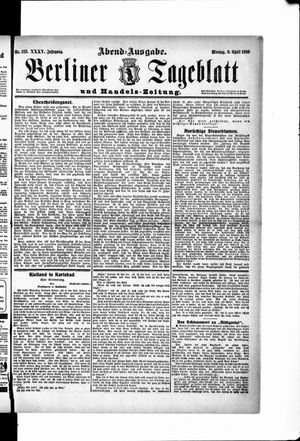 Berliner Tageblatt und Handels-Zeitung vom 09.04.1906