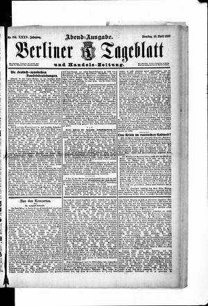 Berliner Tageblatt und Handels-Zeitung vom 10.04.1906